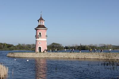 Leuchtturm bei Schloß Moritzburg