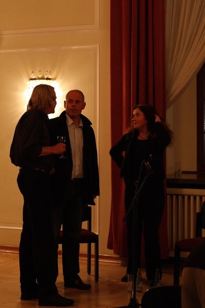 Lothar Fiedler und Ralf Kerbach im Gespräch mit Angela Hampel.