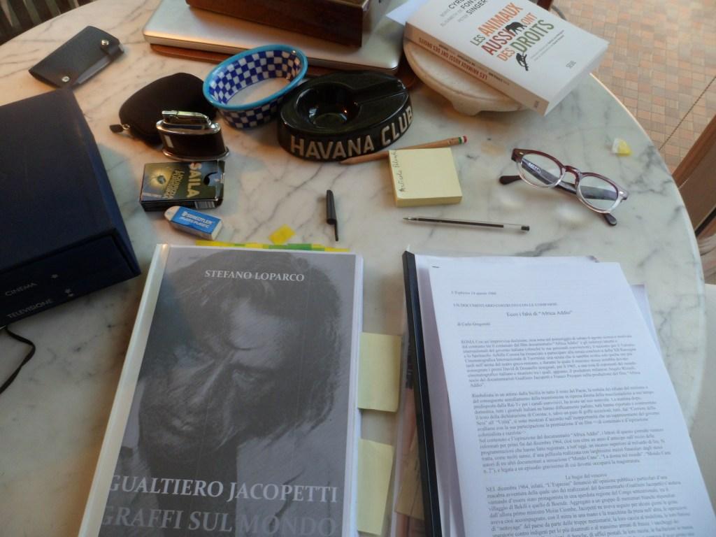 Roma, 25 ottobre 2013. Studio di Carlo Gregoretti.