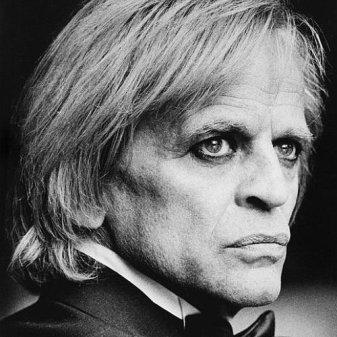 Klaus Kinski (1926-1991), acteur allemand. Paris, 1977.