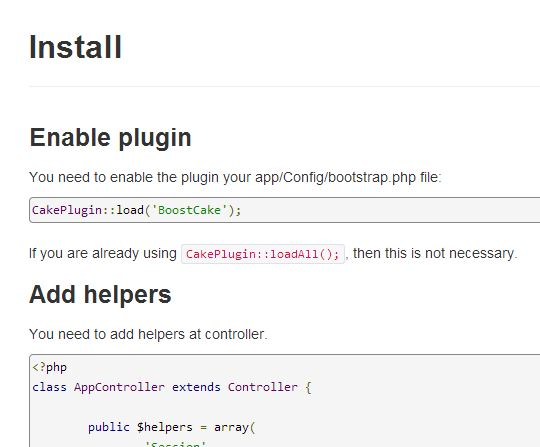 Usare twitter bootstrap in cakephp
