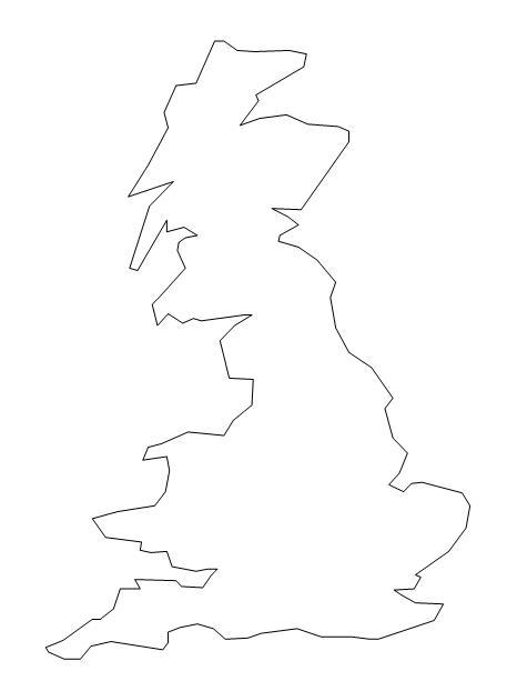 Cartina Geografica Muta Della Gran Bretagna