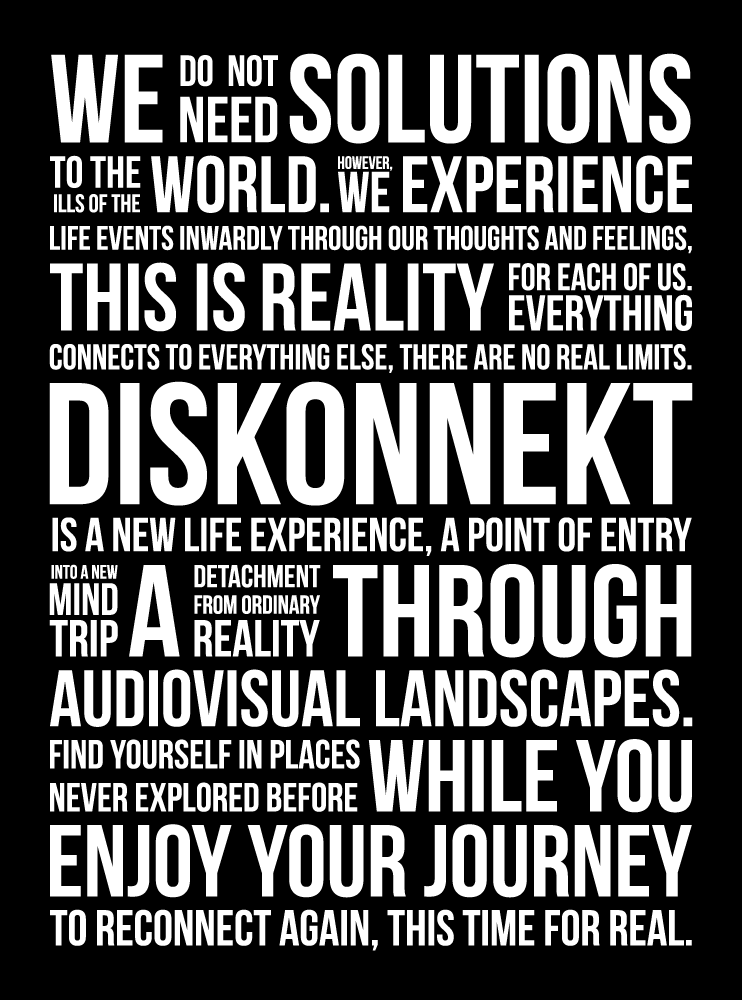 diskonnekt statement artwork poster