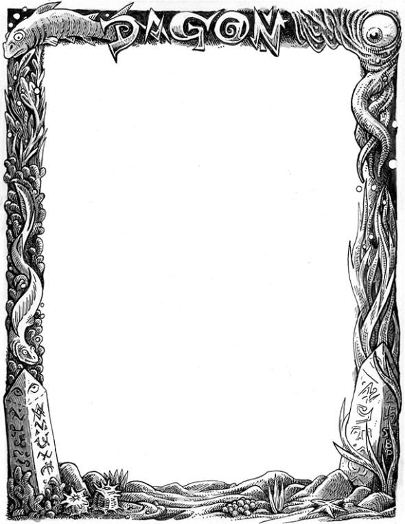 Dagon frame for Magician\'s Skull | stefan poag