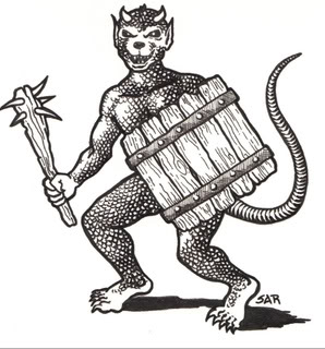 Most these days picture kobolds as being reptilian. Go far