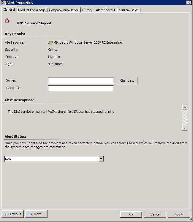SCOM 2012 – Using Alert Custom Fields | STEFANROTH NET