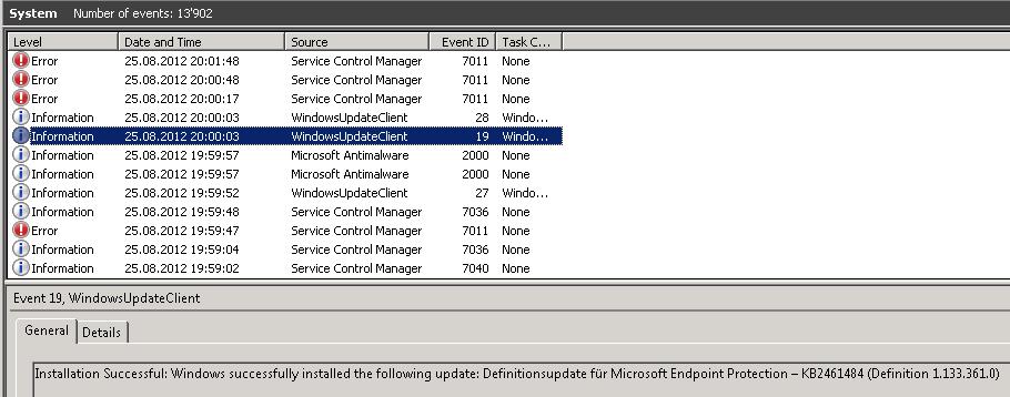 SCOM 2012 – Event ID 7011 Service Control Manager Error