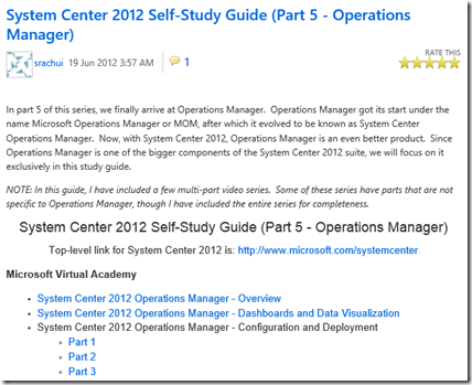 SCOM 2012 – Self-Study Guide Operations Manager | STEFANROTH NET