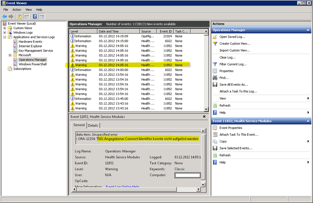 SCOM 2012 – Monitoring Oracle Database OLE DB Management Pack
