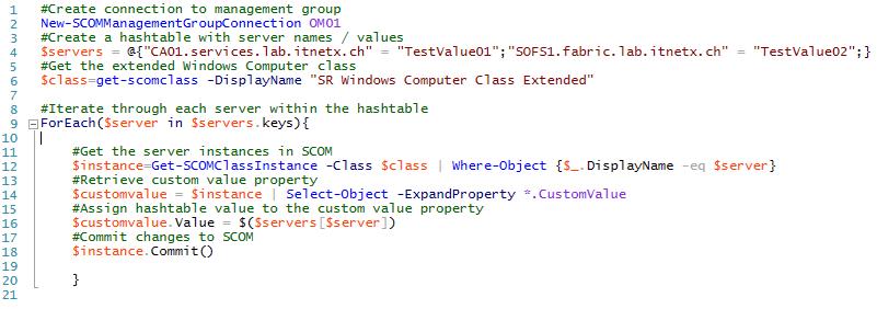 SCOM – Populate Attributes Through PowerShell | STEFANROTH NET