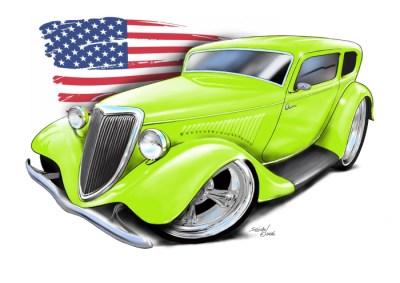 34 Ford Streetrod - Green