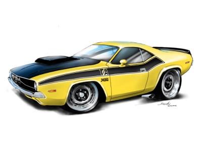 70 Dodge Challenger Yellow