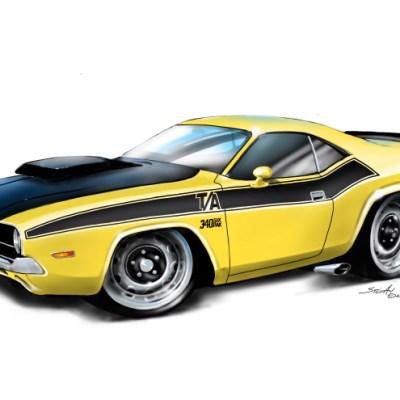 70Dodge Challenger Yellow, 1970 Dodge challenger yellow