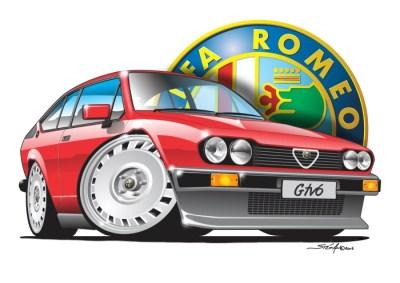 Alfa GTV6 Red