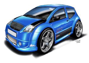 Citroen vtx - blue