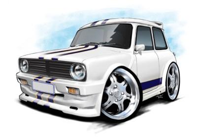 Mini 1275 White, british cars,