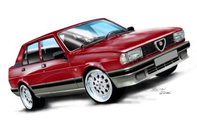 83 Alfa Giulietta red,