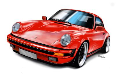 porsche 911 red, german steel, car wars 2,