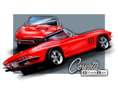Chevy Corvette convertible C2