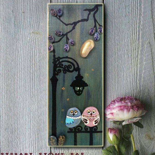 Картина-огледало за стена Влюбени