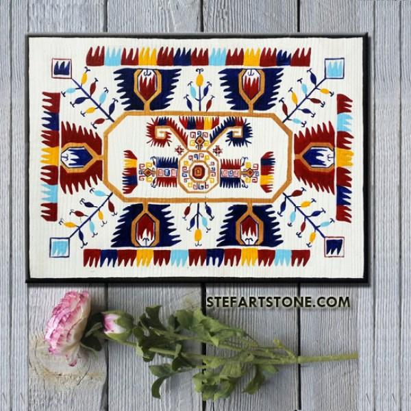 картина рисувана шевица богинята майка 30х20 см