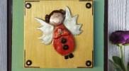 картина за стена с ангелче