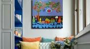 """Картини за стена с рисувани камъни – Поредица """"Шареното Село"""""""