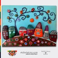 Картина Шареното село 12 40х30 модел