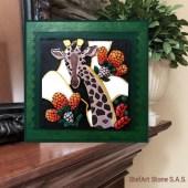 картина с камъни Жираф