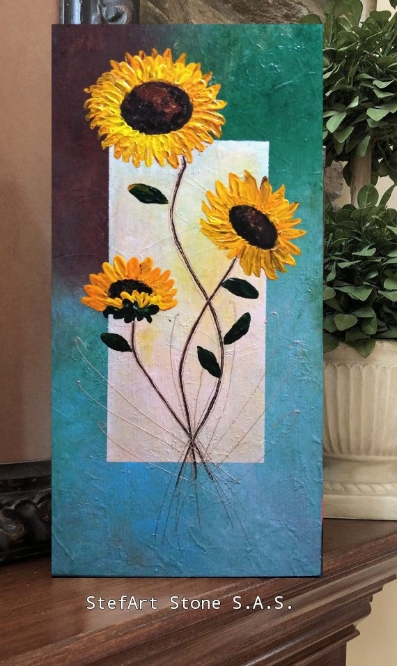 коледа картина слънчогледи промоция подарък