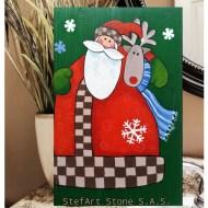 Картина Дядо Коледа и Рудолф