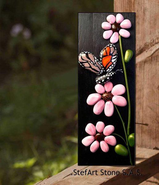 картина цветя пеперуда