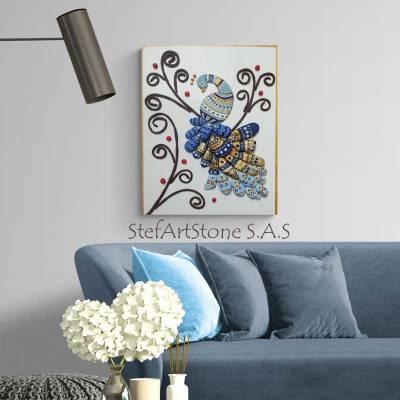 декораривно пано за стена паун, картини и пана за хол