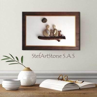 картини и пана, картини семейство, пана за стена, картини с камъни