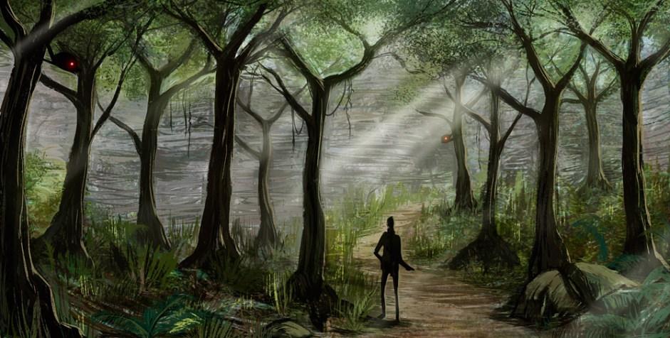 Forest, enviroment design.