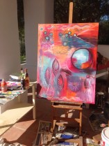 Intuitive Art - Be Free Intuitive process Painting