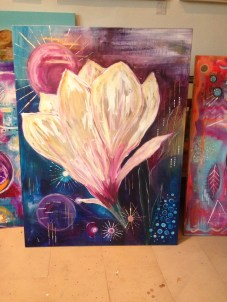 Intuitive Art - Magnolia Intuitive process painting