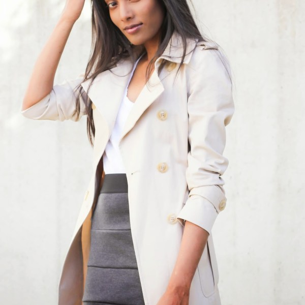 Work Wear: Trench Coat & Pencil Skirt