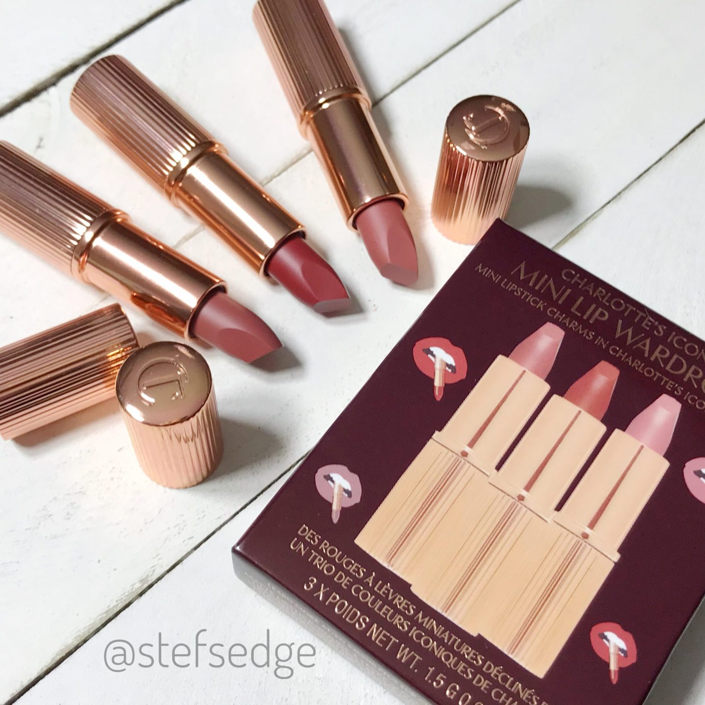 Charlotte Tilbury Mini Lipstick Trio Matte Revolution – Swatches and Dupes