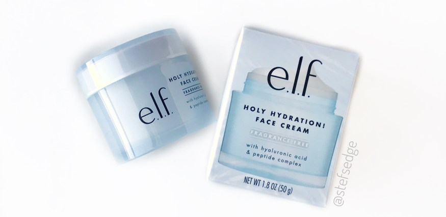 ELF Holy Hydration Face Cream Fragrance Free with box packaging on white background