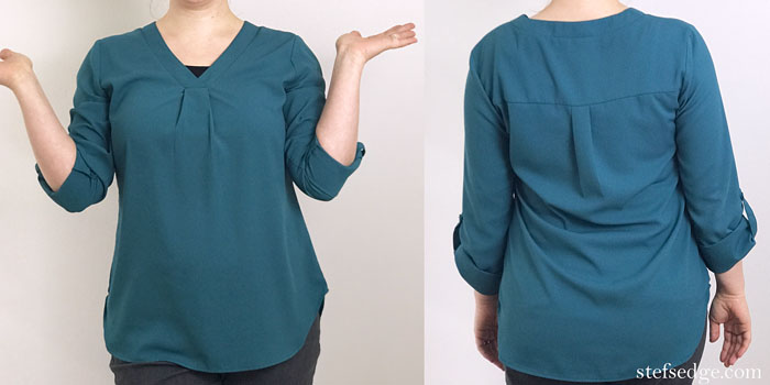 Youtalia Casual Tunic Shirt from Amazon.com on a real person, front and back