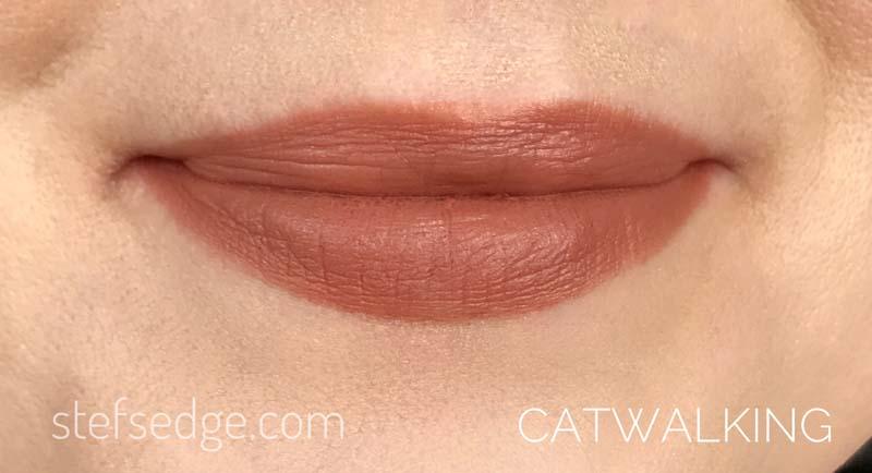 Catwalking Charlotte Tilbury Lip Swatch on fair pale light skin