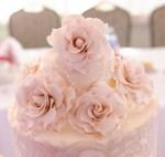 Roses atop a Wedding Cake