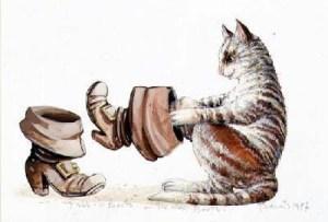 a moda de botas de mosqueteiro o gato de botas