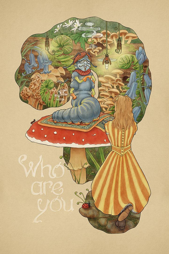 ilustrações de alice noa pais do espelho - alice thought the looking glass 7