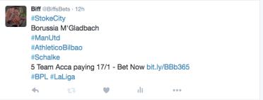 5 Fold Accumulator Twitter - @BiffsBets