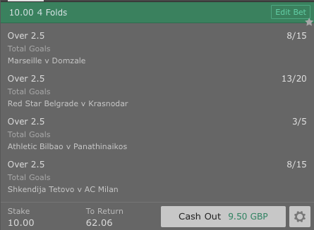 Footy Accumulator 4 Fold