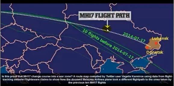 mh17 flight path