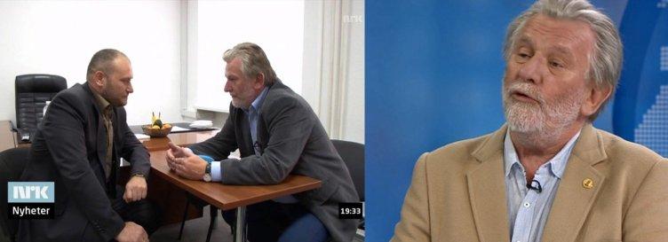 Hans Wilhelm Steinfeld og fascisten Jarsosj 3. mai 2014 og PR-rådgiver Steinfeld 21. april 2015