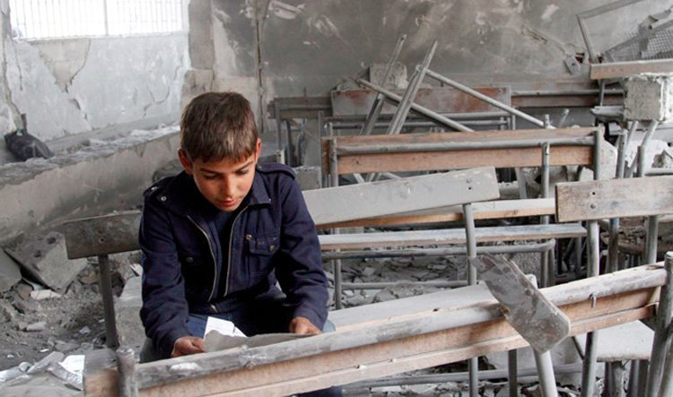 Bombet skole i Syria (Human Rights Watch)